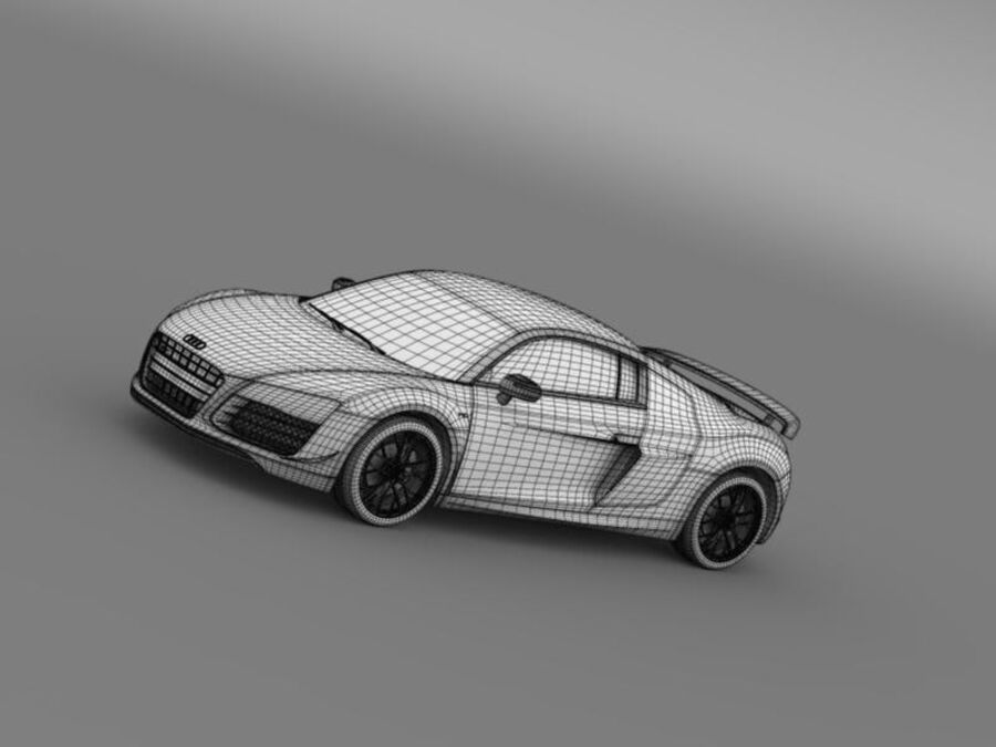 Audi R8 LMX 2014 royalty-free 3d model - Preview no. 19