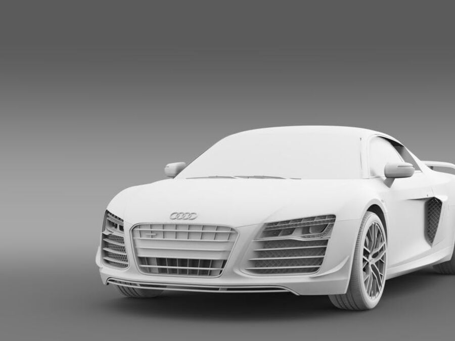 Audi R8 LMX 2014 royalty-free 3d model - Preview no. 17