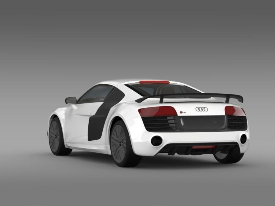 Audi R8 LMX 2014 royalty-free 3d model - Preview no. 8