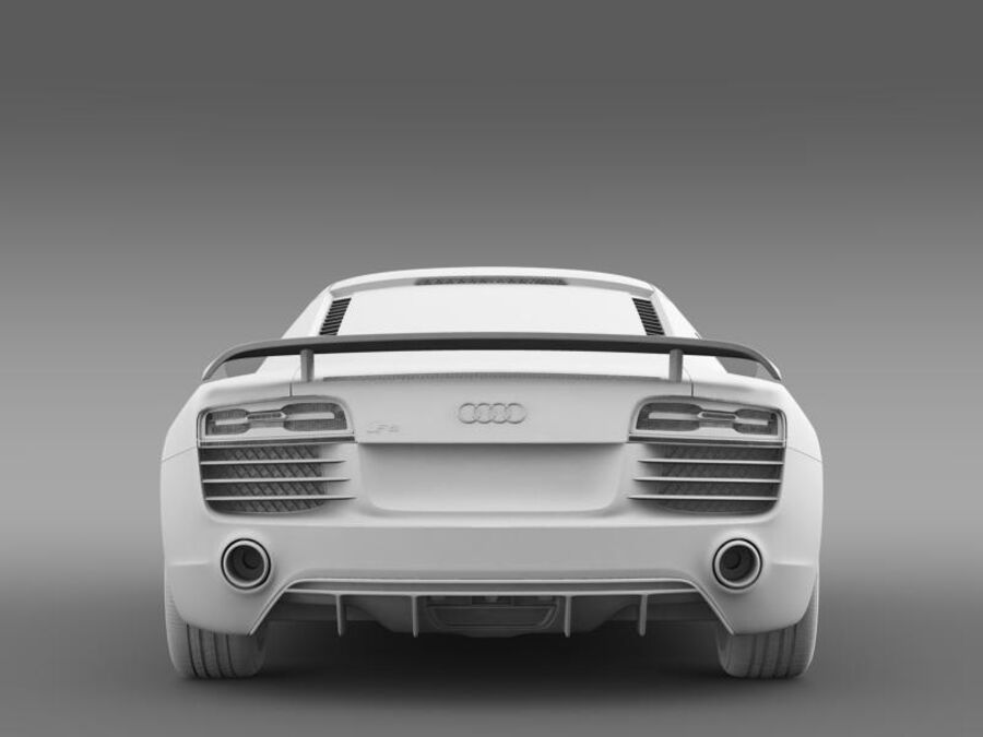 Audi R8 LMX 2014 royalty-free 3d model - Preview no. 16
