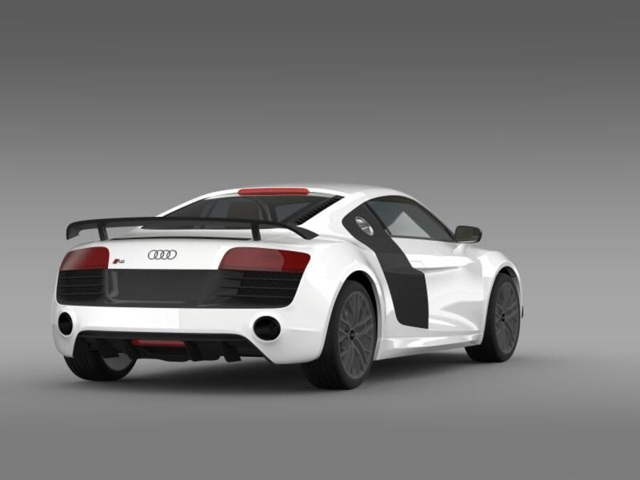 Audi R8 LMX 2014 royalty-free 3d model - Preview no. 10