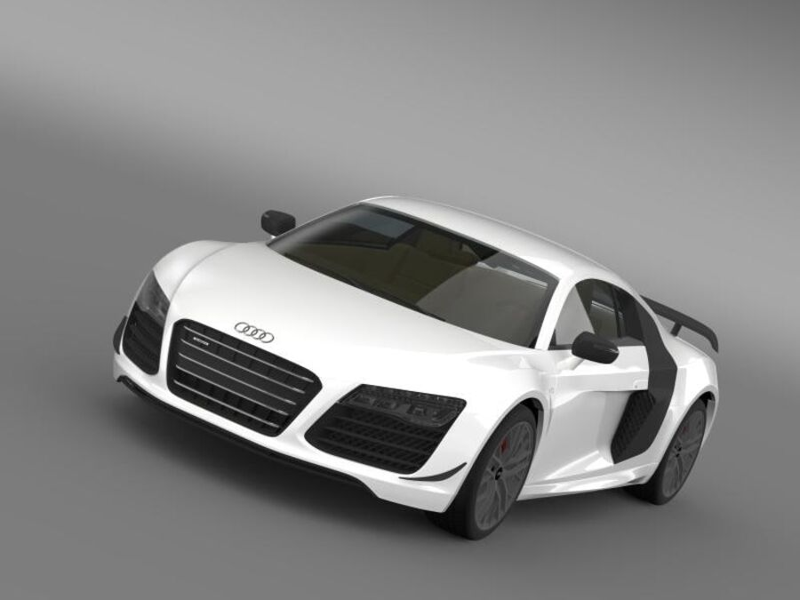 Audi R8 LMX 2014 royalty-free 3d model - Preview no. 1