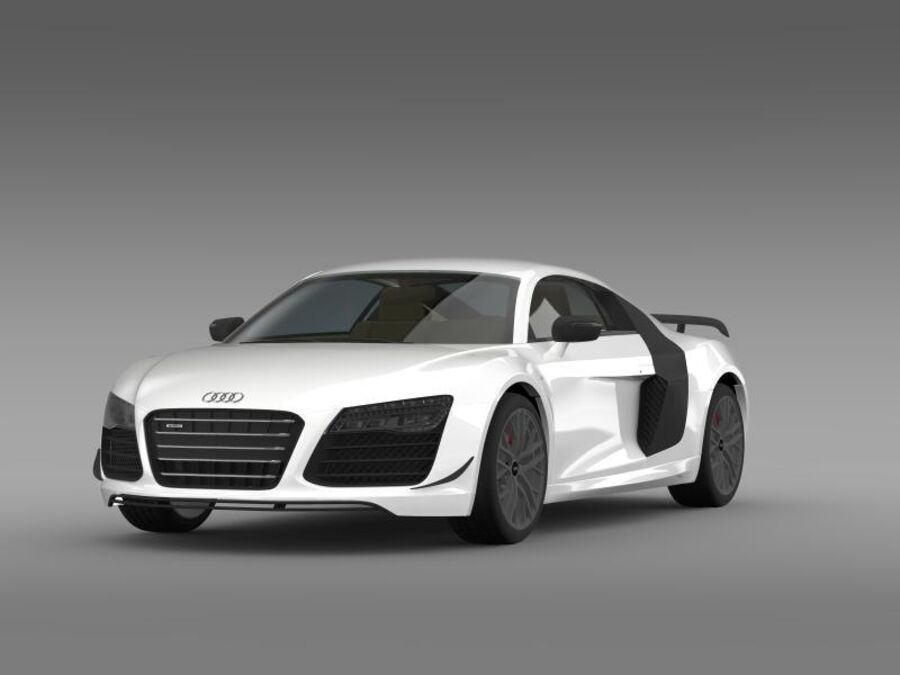Audi R8 LMX 2014 royalty-free 3d model - Preview no. 4