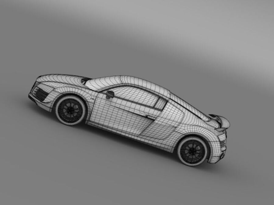 Audi R8 LMX 2014 royalty-free 3d model - Preview no. 20