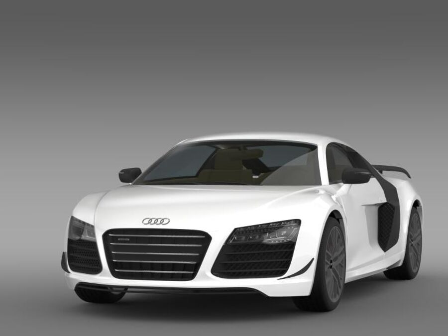 Audi R8 LMX 2014 royalty-free 3d model - Preview no. 3