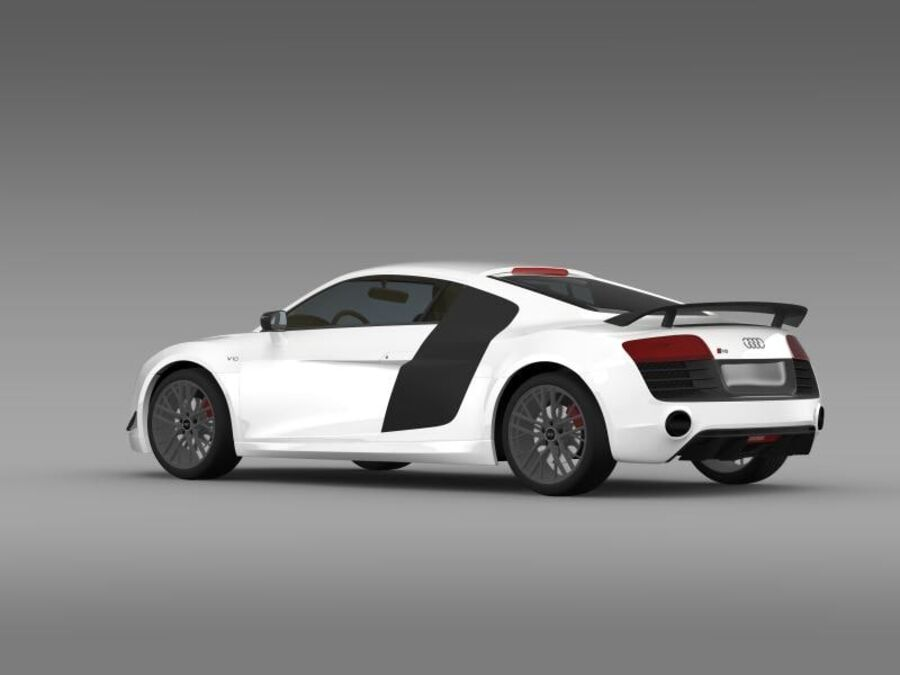Audi R8 LMX 2014 royalty-free 3d model - Preview no. 7