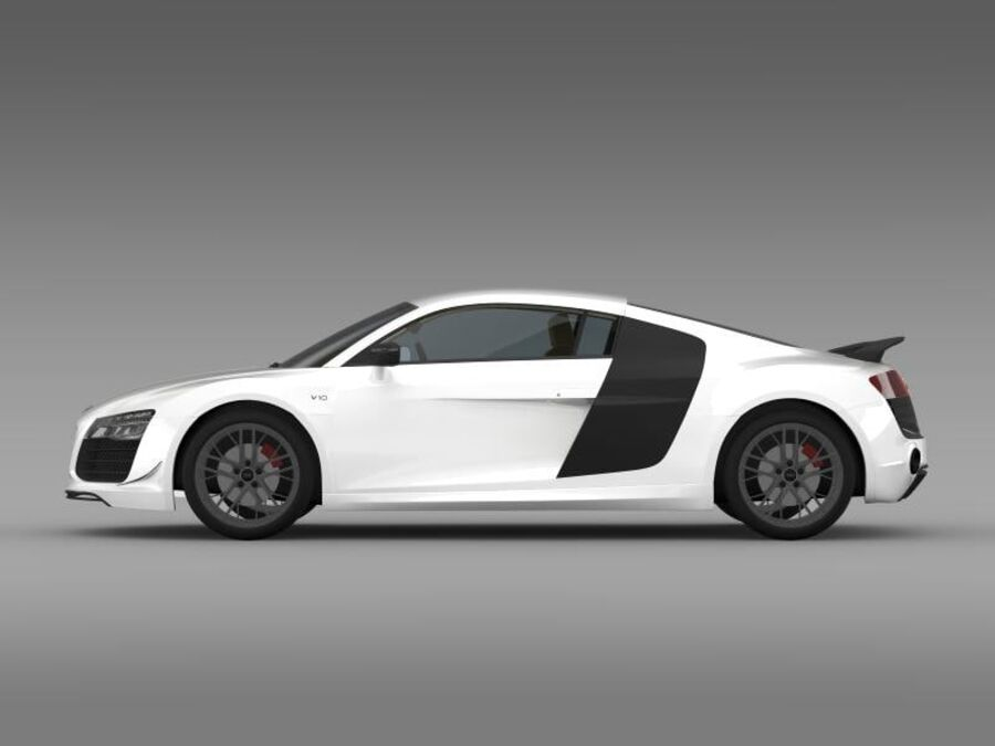 Audi R8 LMX 2014 royalty-free 3d model - Preview no. 6