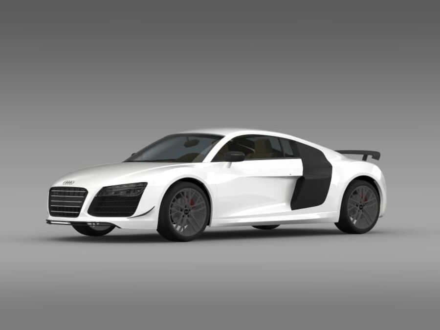 Audi R8 LMX 2014 royalty-free 3d model - Preview no. 5