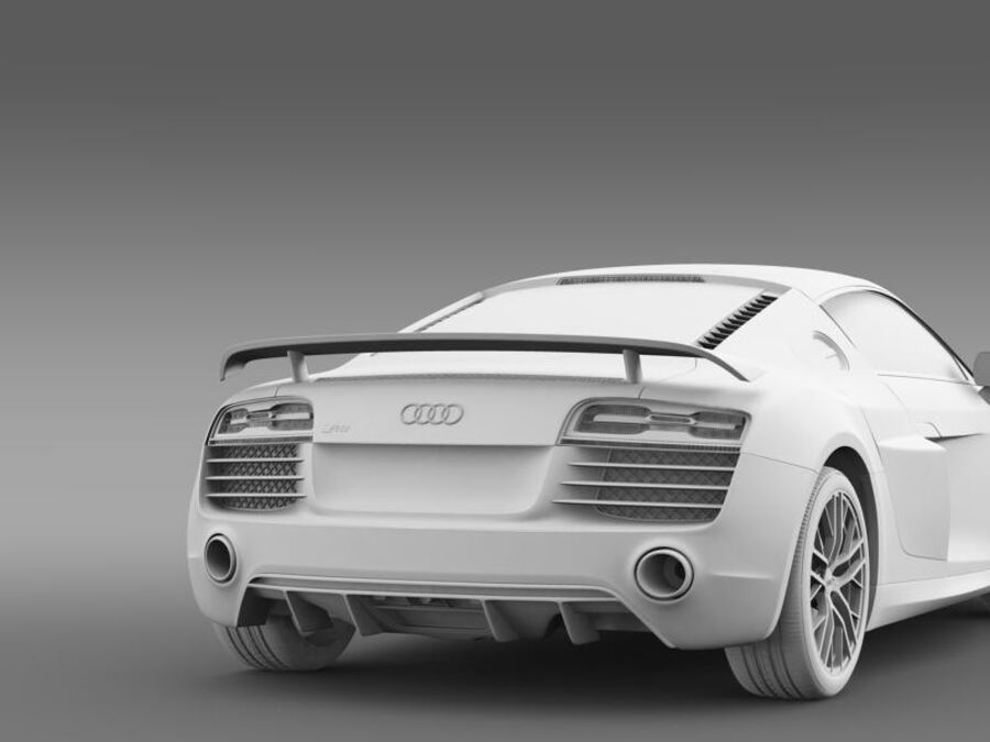 Audi R8 LMX 2014 royalty-free 3d model - Preview no. 18