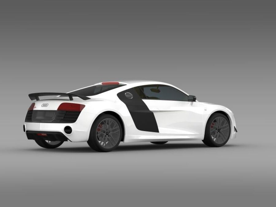 Audi R8 LMX 2014 royalty-free 3d model - Preview no. 11