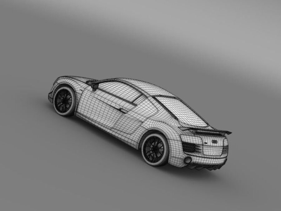 Audi R8 LMX 2014 royalty-free 3d model - Preview no. 21
