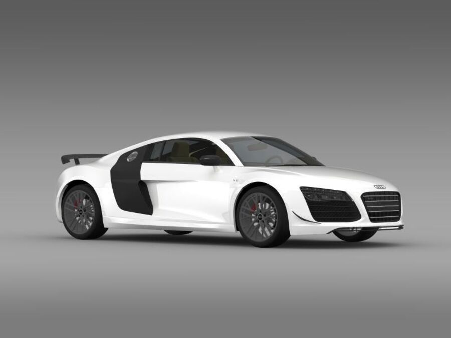 Audi R8 LMX 2014 royalty-free 3d model - Preview no. 13