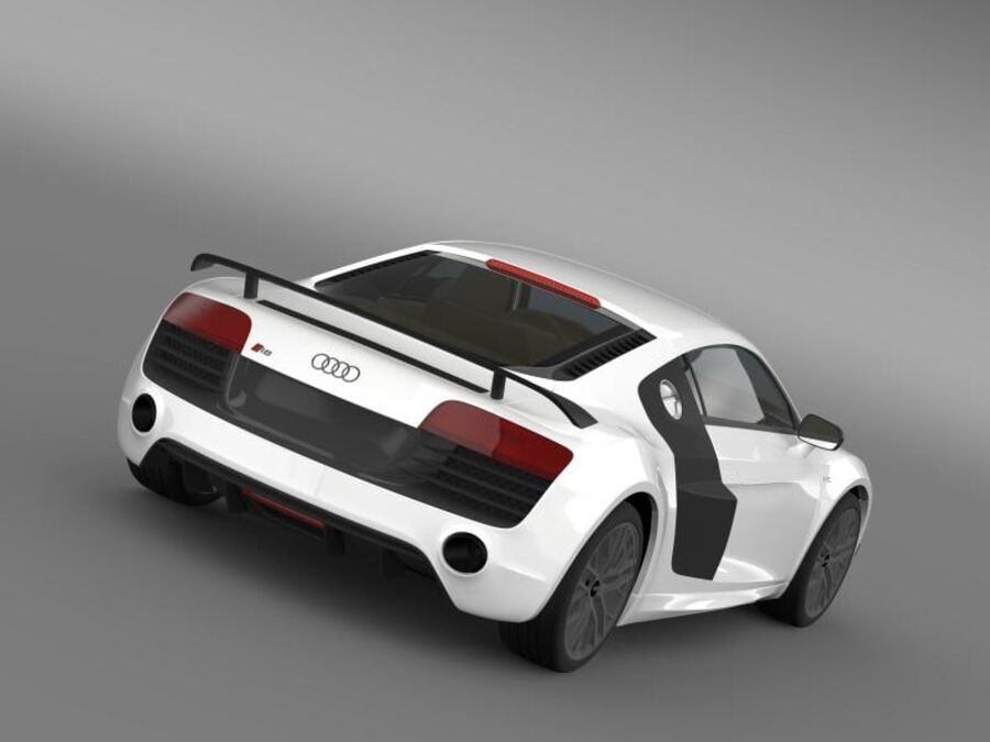 Audi R8 LMX 2014 royalty-free 3d model - Preview no. 2