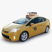 Taxi Toyota Prius 2014 New York 3d model
