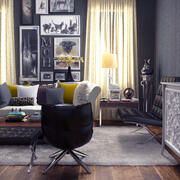 Sitting Interior Design 3d model