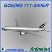 Boeing 777-300ER Cathay Pacific 3d model