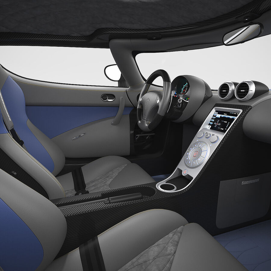 Koenigsegg Agera royalty-free 3d model - Preview no. 15