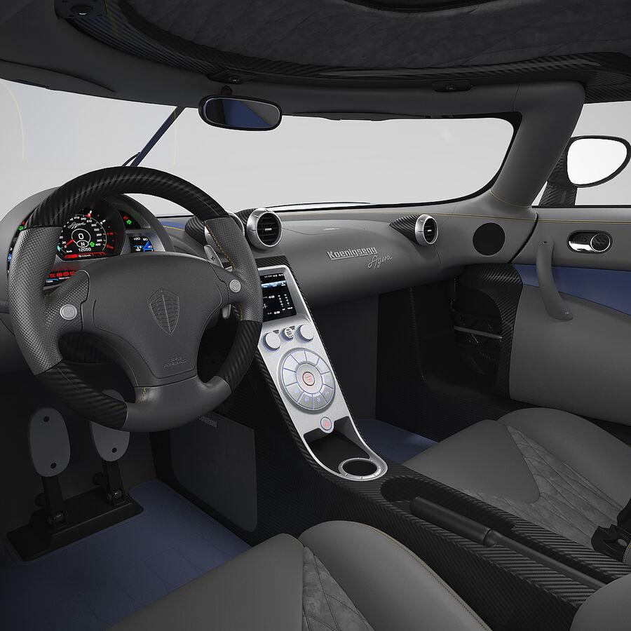 Koenigsegg Agera royalty-free 3d model - Preview no. 14