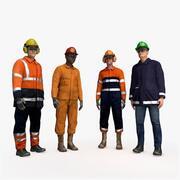 Opgezette offshore-arbeiders 3d model