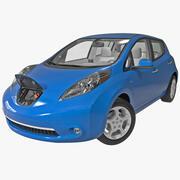 日产Leaf BEV 2014索具 3d model
