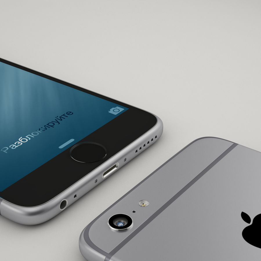 iPhone 6 royalty-free 3d model - Preview no. 7