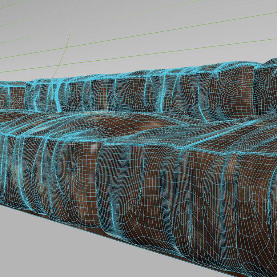 Wrinkled Worn Leather Sofa Royalty Free 3d Model   Preview No. 5