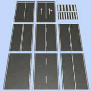 Road MHT-01 2 Lane 3d model