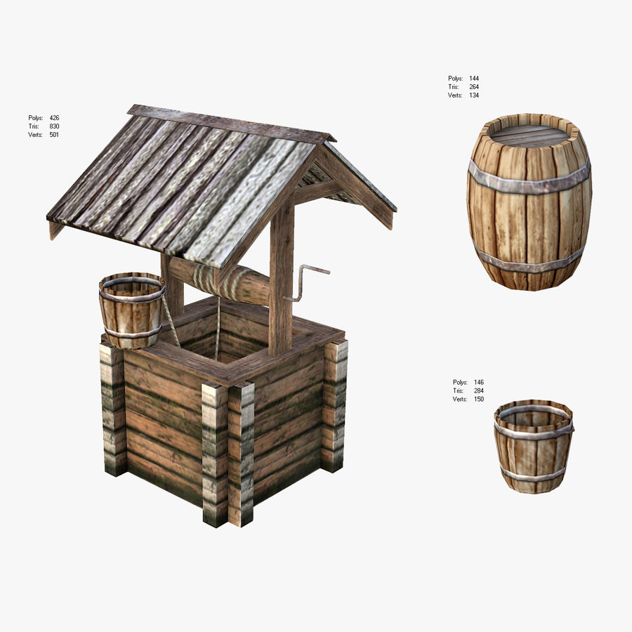 Medieval Village Content royalty-free 3d model - Preview no. 3