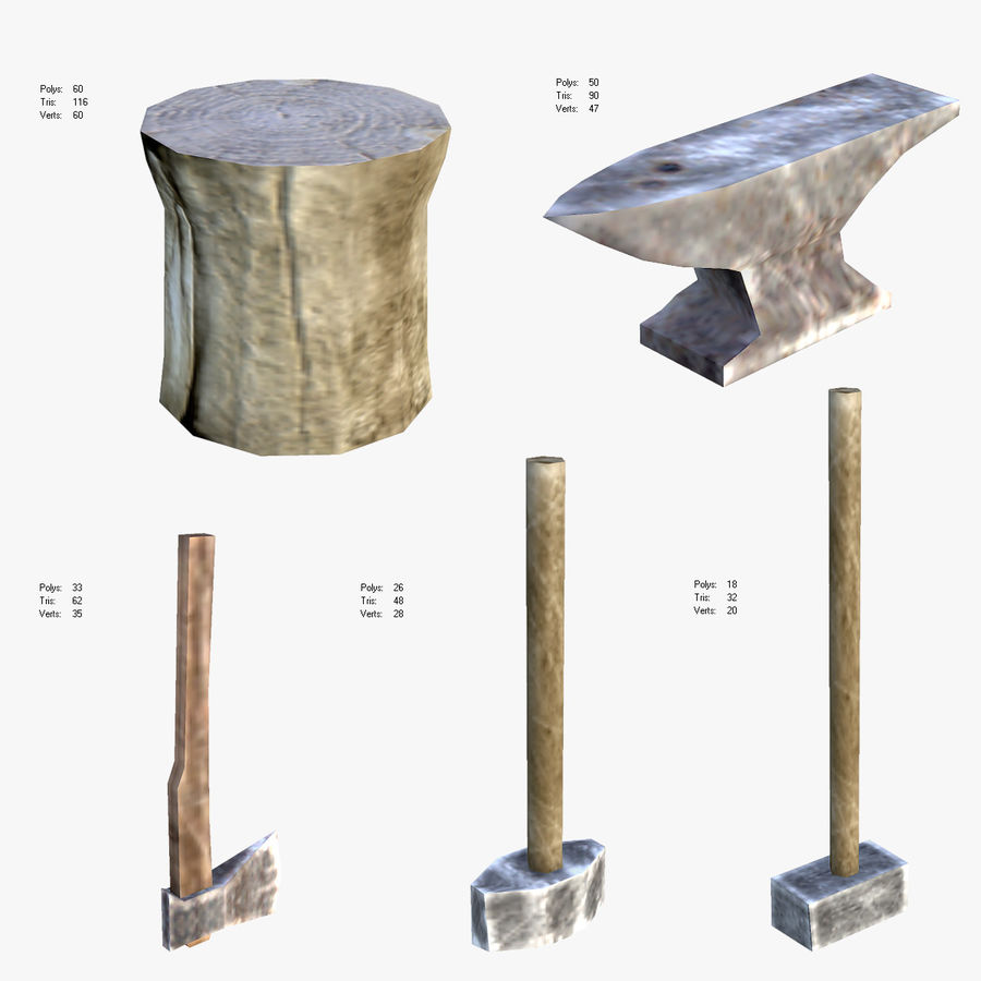 Medieval Village Content royalty-free 3d model - Preview no. 2