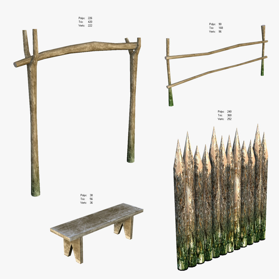 Medieval Village Content royalty-free 3d model - Preview no. 6