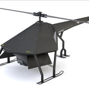 Stealth Drone Quadrocopter (RIGGED) 3d model