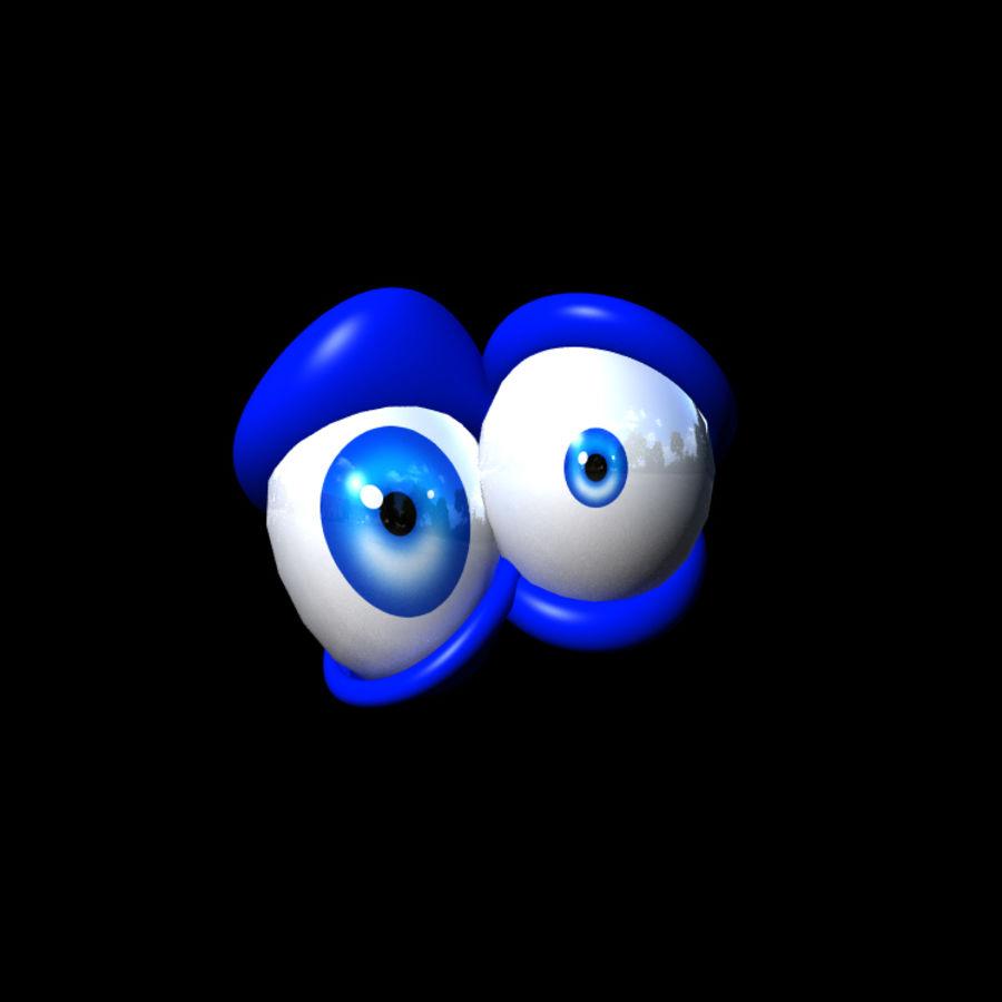 Cartoon Eyes Rig royalty-free 3d model - Preview no. 2