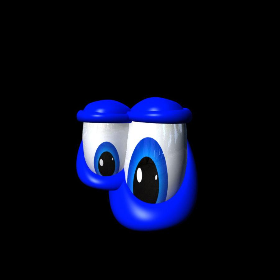 Cartoon Eyes Rig royalty-free 3d model - Preview no. 4