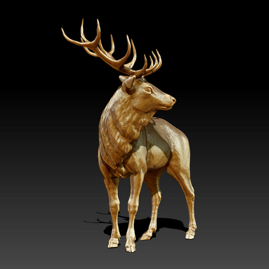 Deer Statue (Highpoly) royalty-free 3d model - Preview no. 2