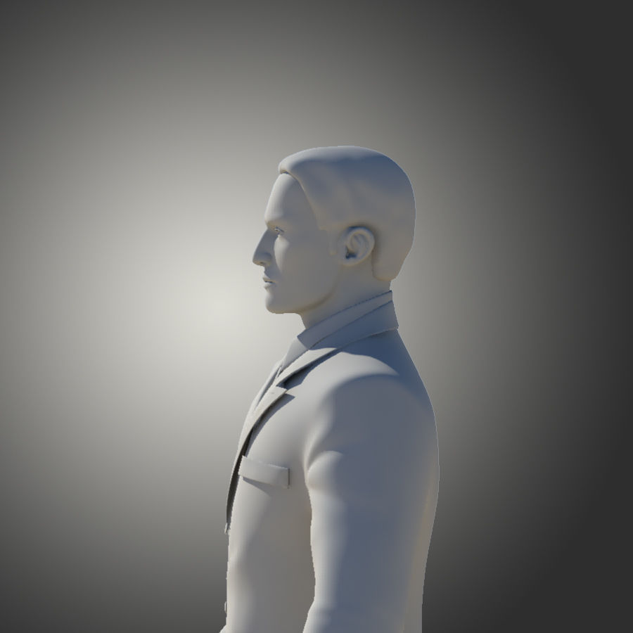 Man royalty-free 3d model - Preview no. 10