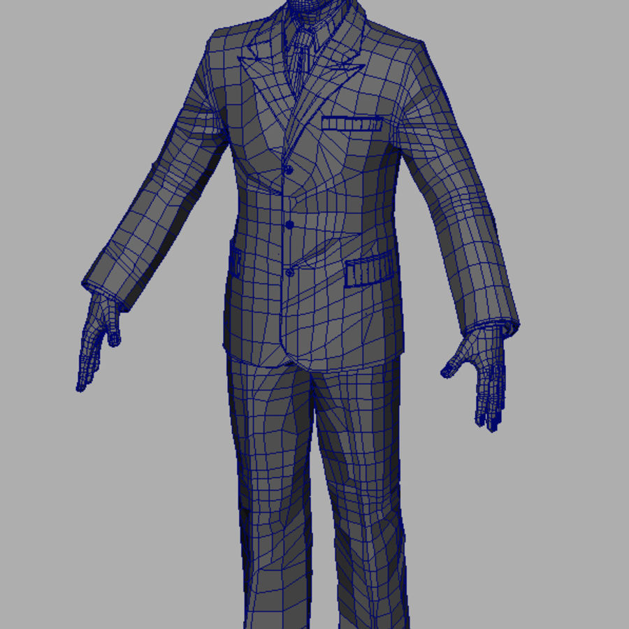 Man royalty-free 3d model - Preview no. 5