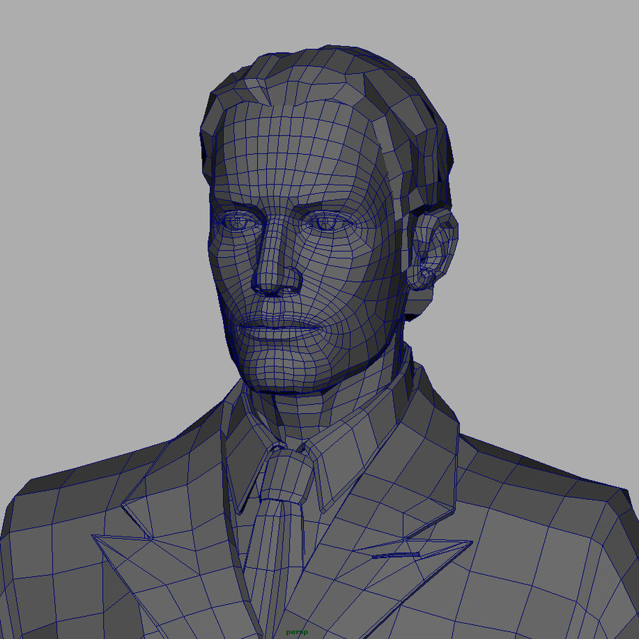 Man royalty-free 3d model - Preview no. 15