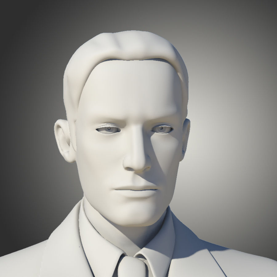 Man royalty-free 3d model - Preview no. 3