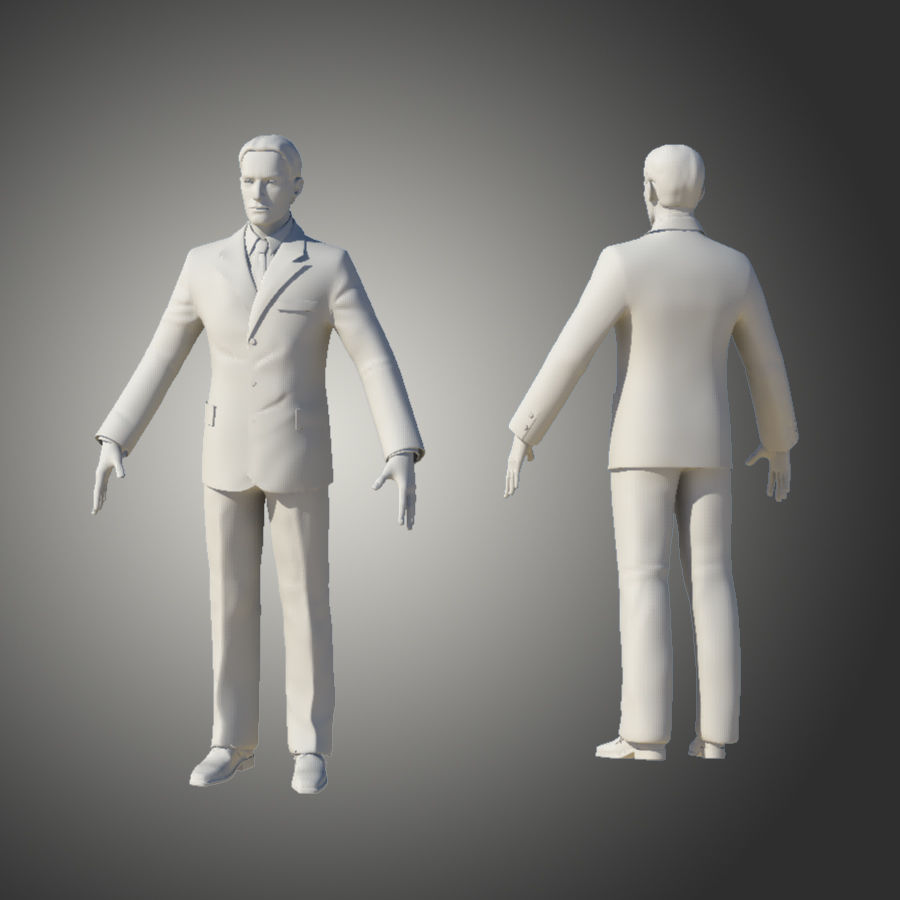 Man royalty-free 3d model - Preview no. 1