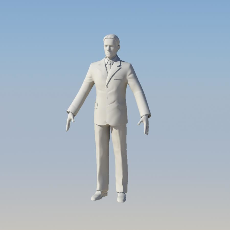 Man royalty-free 3d model - Preview no. 27