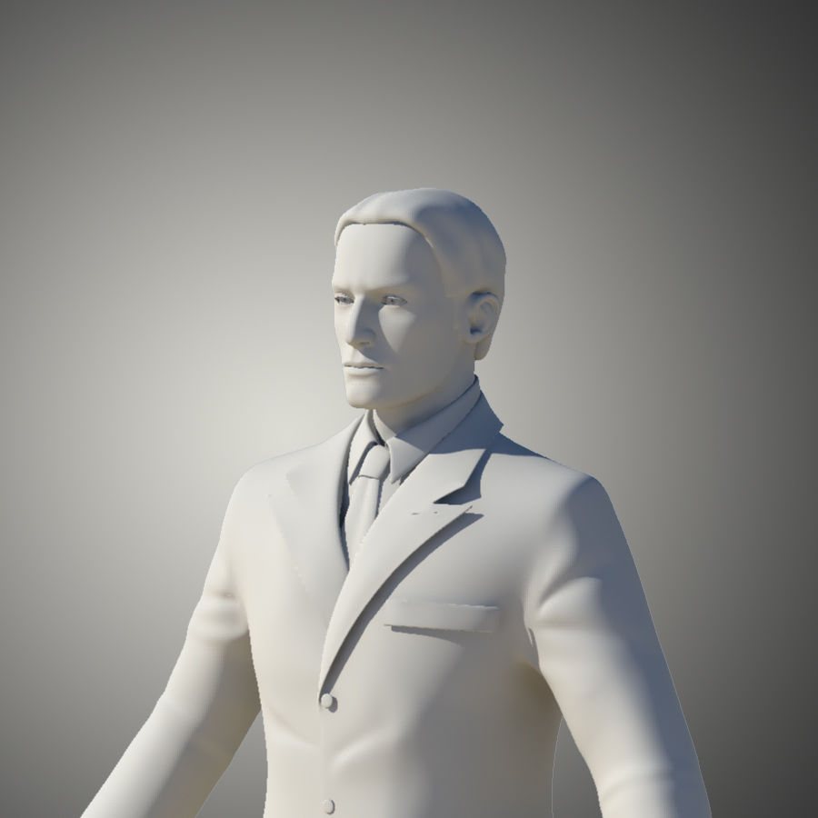 Man royalty-free 3d model - Preview no. 6