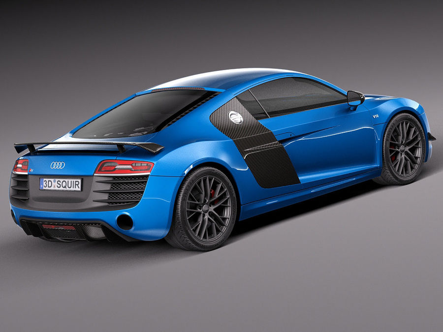 Audi R8 LMX 2015 royalty-free 3d model - Preview no. 5