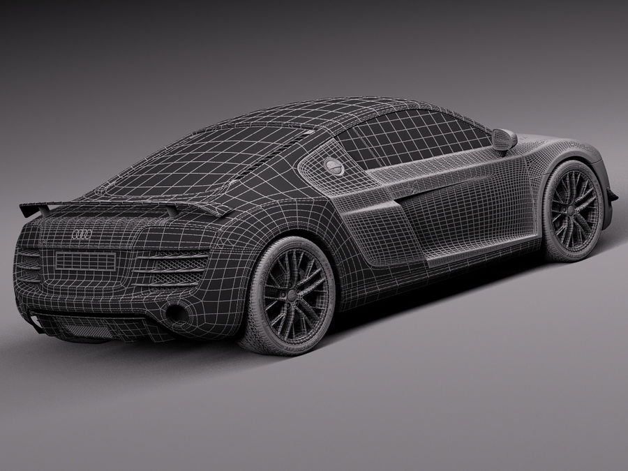 Audi R8 LMX 2015 royalty-free 3d model - Preview no. 18