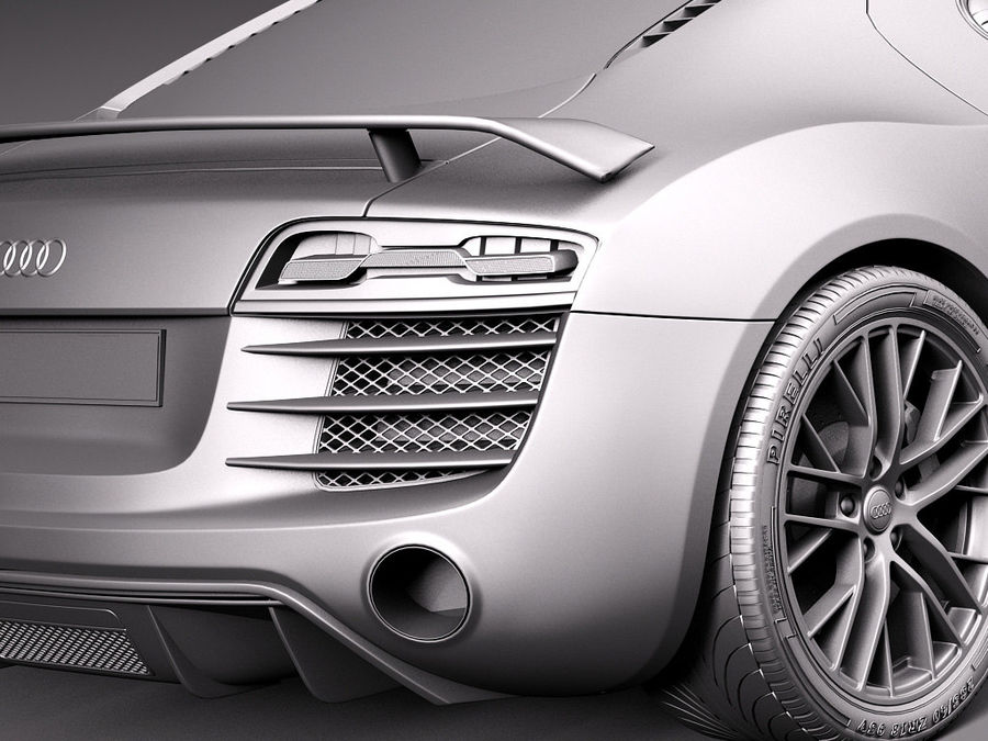 Audi R8 LMX 2015 royalty-free 3d model - Preview no. 13