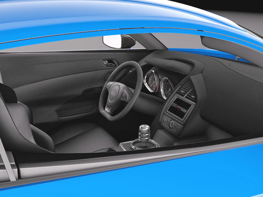 Audi R8 LMX 2015 royalty-free 3d model - Preview no. 9