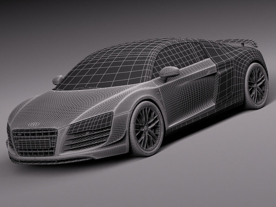 Audi R8 LMX 2015 royalty-free modelo 3d - Preview no. 17