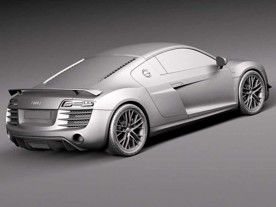 Audi R8 LMX 2015 royalty-free 3d model - Preview no. 14