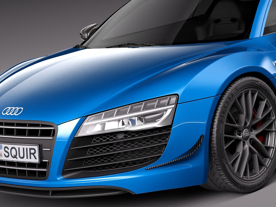 Audi R8 LMX 2015 royalty-free 3d model - Preview no. 3
