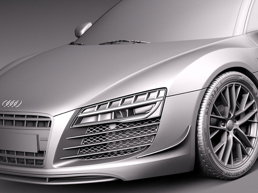 Audi R8 LMX 2015 royalty-free modelo 3d - Preview no. 12