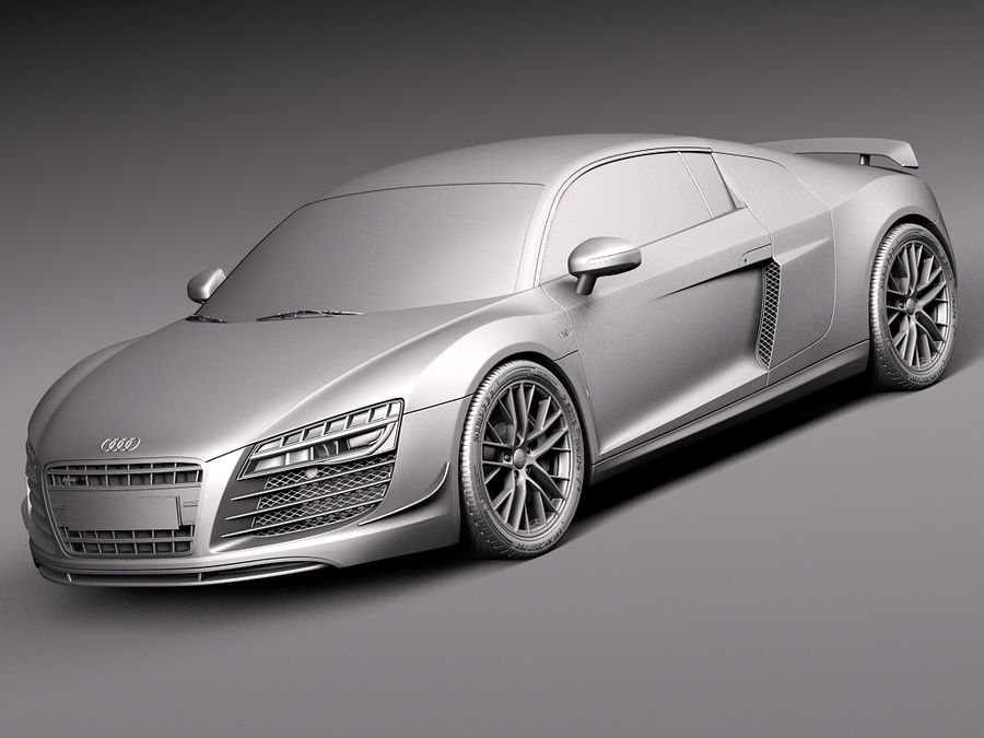 Audi R8 LMX 2015 royalty-free 3d model - Preview no. 11